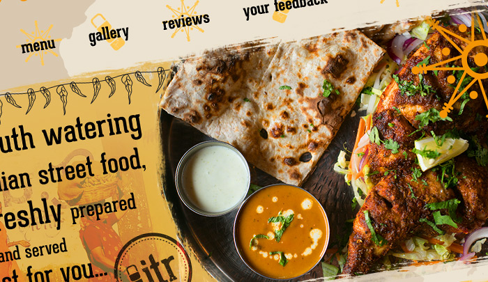 Indian Tiffin Room Website Design Menus
