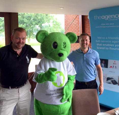 Charity Golf Mascot-and-golfers