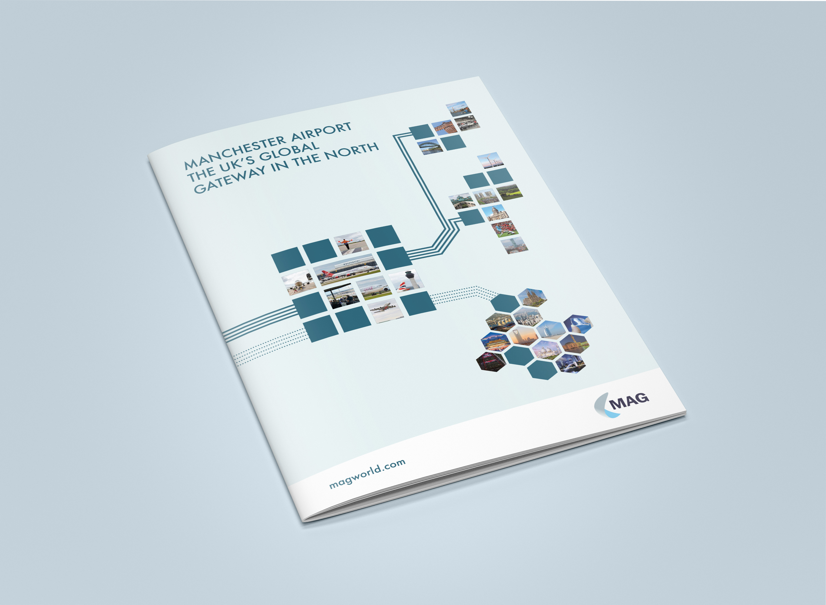 Manchester Airport Brochure Cover Design