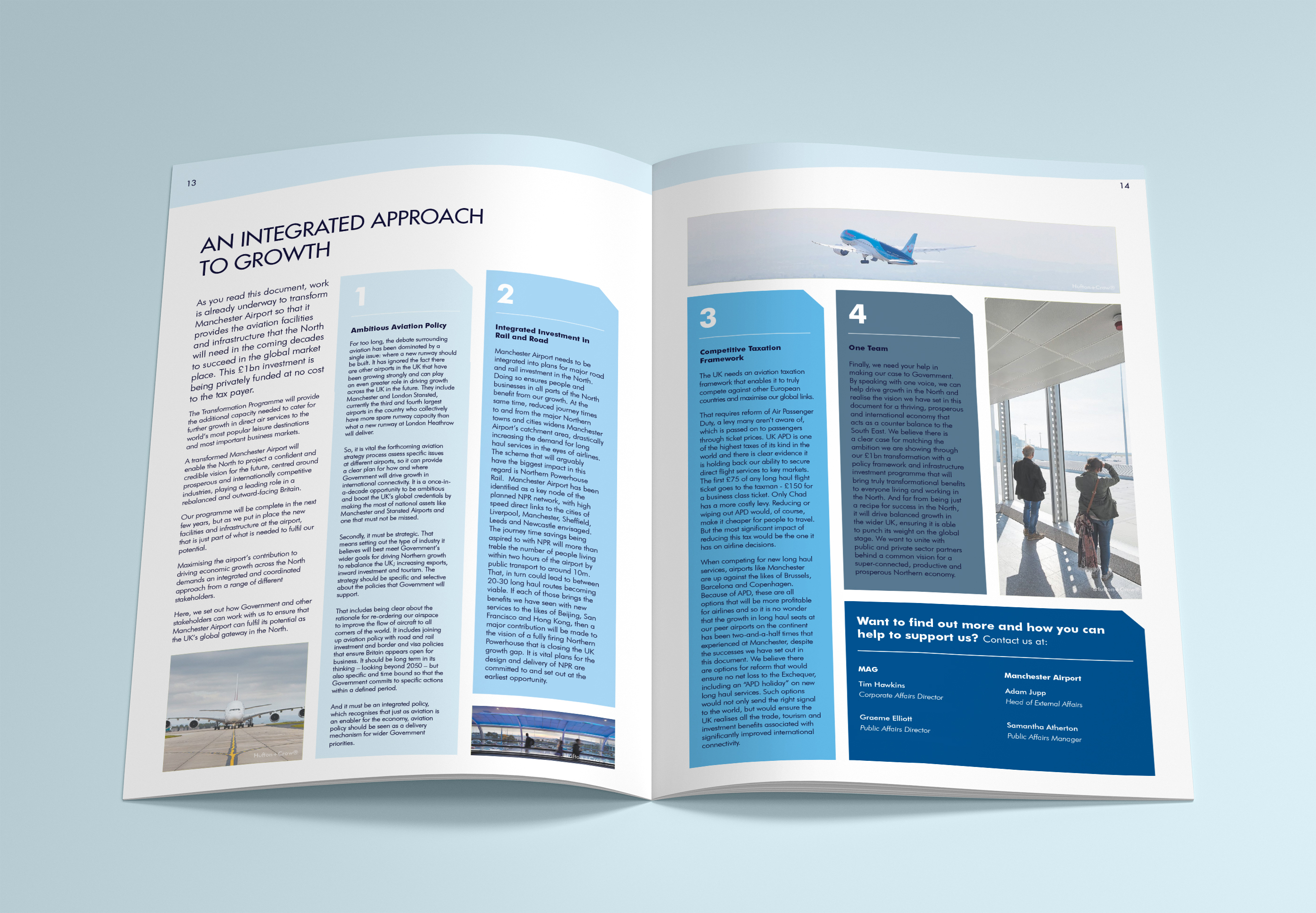 Manchester Airport Brochure Layout Design