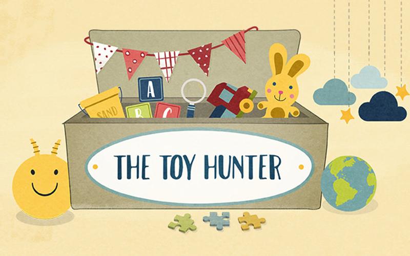 the toy hunter blog design