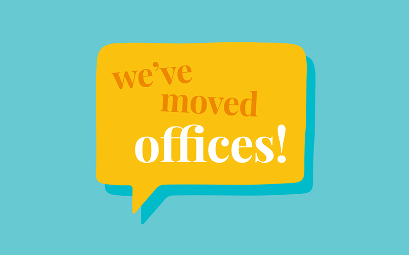 we have moved offices at the agency creative