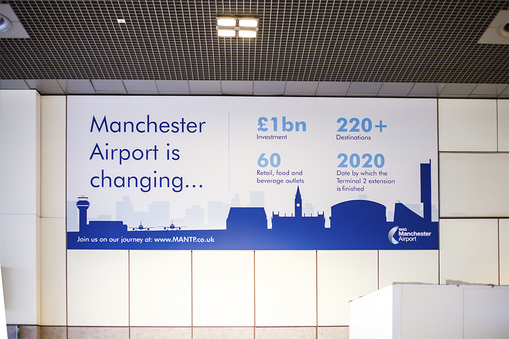 Manchester Airport Billboards - The Agency Creative