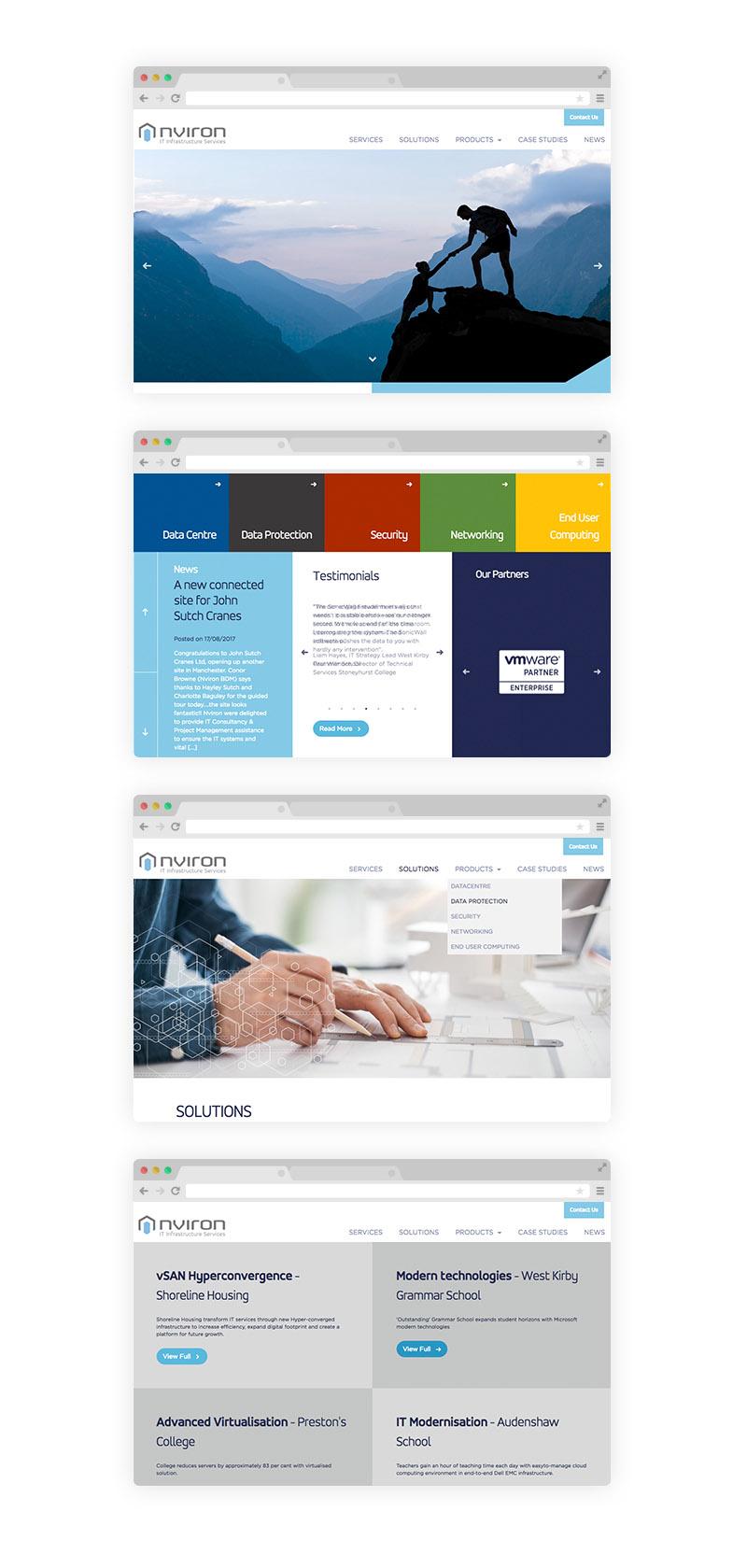 Nviron Website Design