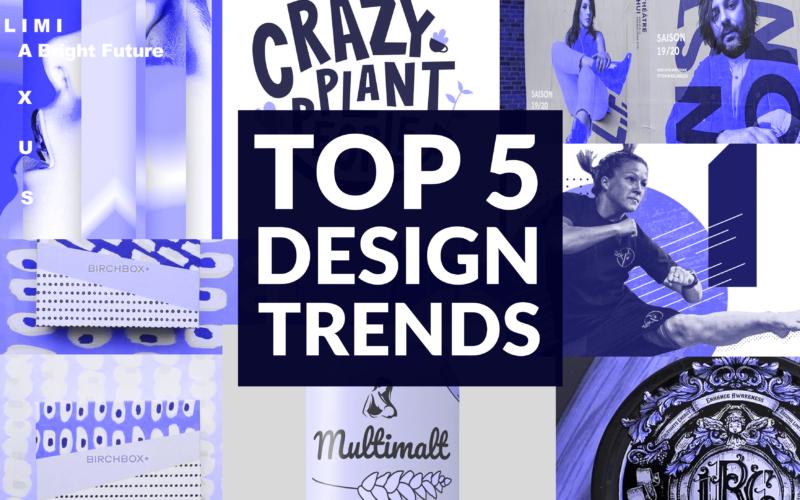 TOP 5 DESIGN TRENDS 2020 HEADER BLOG COLLAGE FEATURED DESIGNERS ARTWORK GRAPHICS
