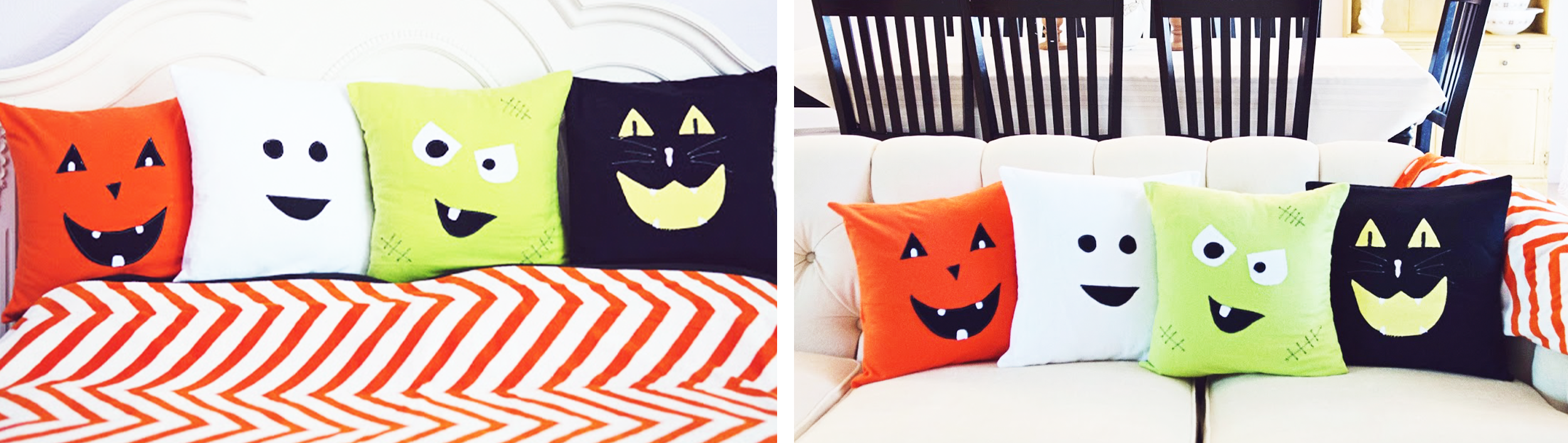 halloween blank canvas cushions spooky home decorations couch sofa bed home