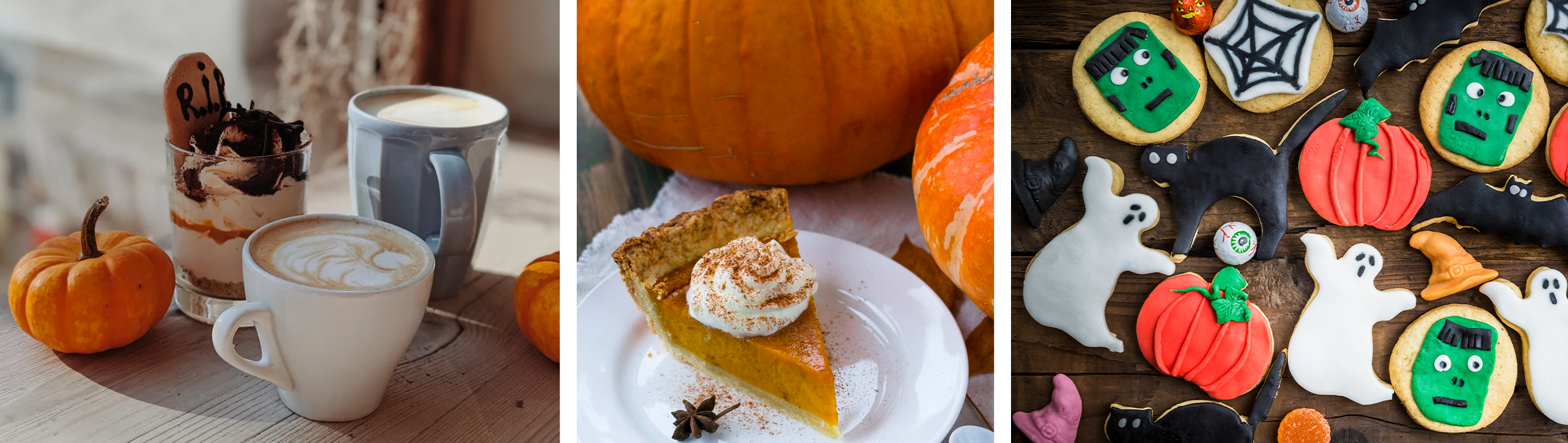 pumpkin spice toffee apple halloween fall autumn spooky treats tricks baking bakes cakes cookies pie coffee hot chocolate home house deserts