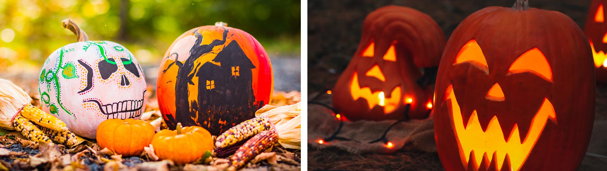 pumpkin patch decoration carving halloween painting characters nightmare before christmas skeleton jack tim burton