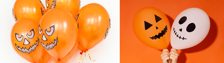 halloween balloon diy creative recycle orange black decoration home designjack skeleton nightmare before Christmas