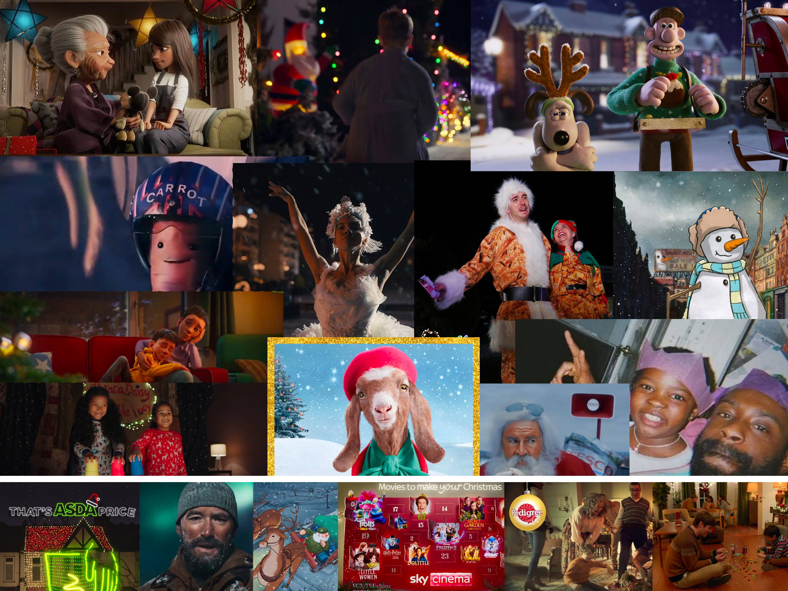 Christmas advert main image feature collage 2020