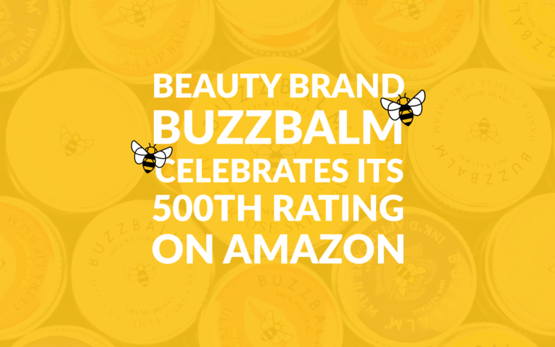 buzzbalm celebrates 500 reviews on amazon skincare brand featured cover image bee manchester